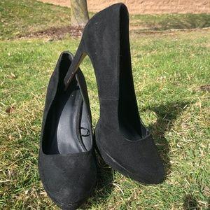 Black Suede Forever 21 Heels